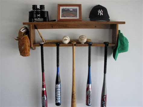 Bat Racks by Baseball Bat Rack Decorative Oak Wall Shelf By