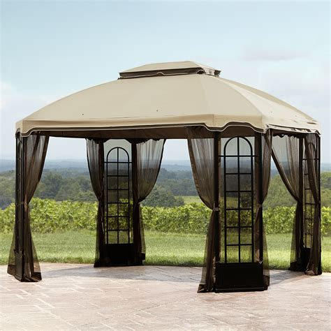 canopy gazebo essential garden replacement canopy for terrace gazebo