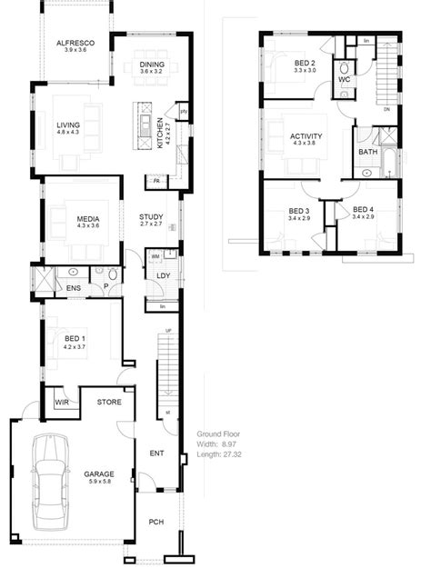 House Plans For Narrow Lot by Lot Narrow Plan House Designs Craftsman Narrow Lot House
