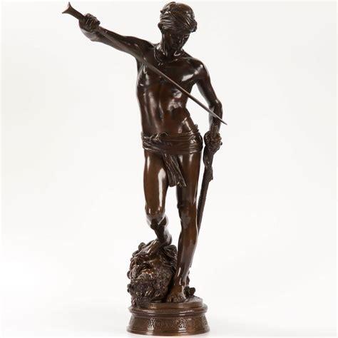 david sculpture quot david vainqueur quot bronze sculpture by antonin merci 233 cast