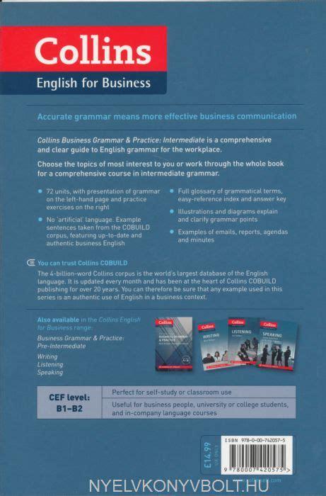 0007420579 intermediate business grammar practice business grammar and practice intermediate collins