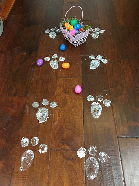 Easter Bunny Footprints   DIY Bunny Footprints