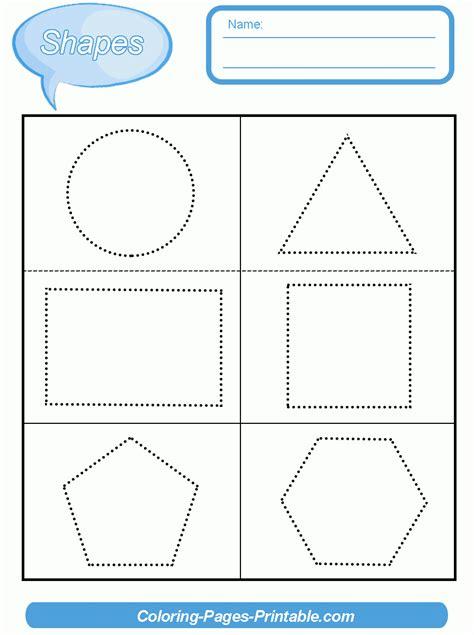 Preschool Shape Worksheets Free