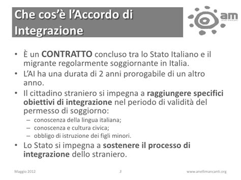 l accordo di integrazione e il permesso quot a punti quot