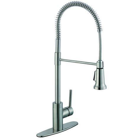 glacier bay single handle kitchen faucet glacier bay 1200 series single handle pull down sprayer