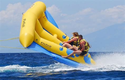 banana boat ride pictures inflatable flying banana boat awesome stuff 365