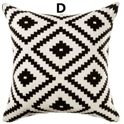 black and white sofa pillows black and white geometric contemporary decorative pillows