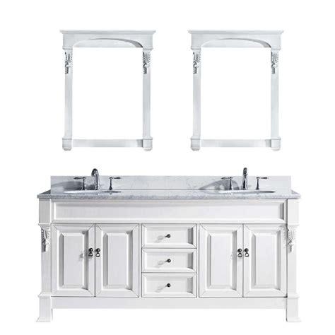 virtu usa huntshire 72 quot virtu usa huntshire 72 in w x 22 05 in d x 33 86 in h white vanity with marble vanity top