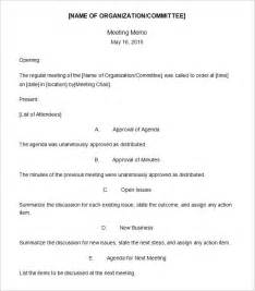meeting memo template 13 free word pdf documents