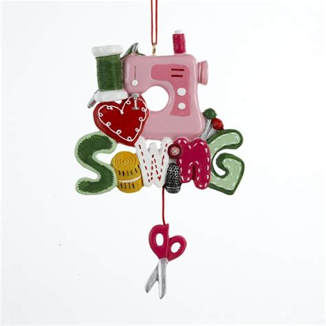 i love sewing machine christmas ornament j1401 holiday