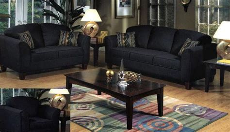 Living Room With Black Furniture with Black Design Living Room Ideas For Home Decoration