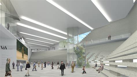 main entrance hall design gallery of v a at dundee kengo kuma associates 30