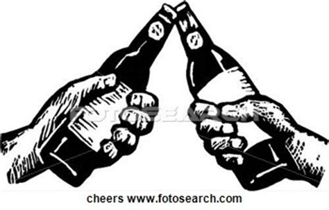 black and white chagne bottle clipart cheers bottle clipart
