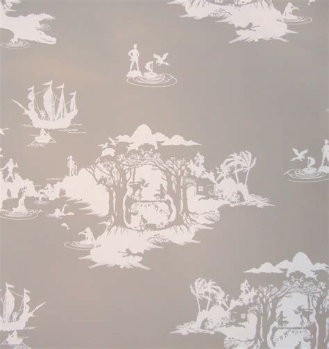 peter pan bedroom wallpaper peter pan wallpaper white on slate eclectic wallpaper