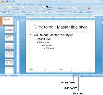 How To Modify The Slide Master In Powerpoint 2007 Dummies Slide Master Powerpoint 2007