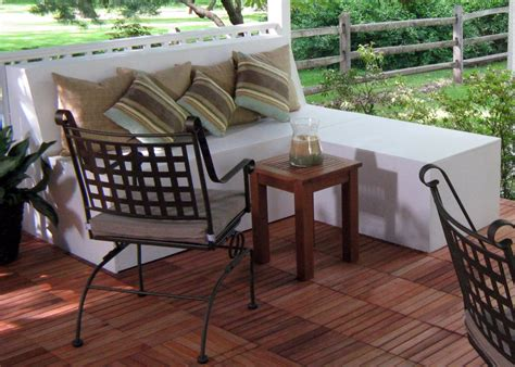 bench for balcony how to build outdoor patio bench with ottoman hgtv