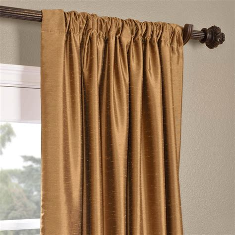 Dupioni Silk Curtains Buy Empire Gold Yarn Dyed Faux Dupioni Silk Curtains