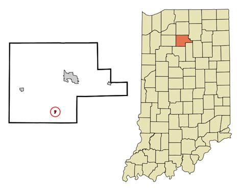 Search My County Indiana File Fulton County Indiana Incorporated And Unincorporated Areas Fulton Highlighted
