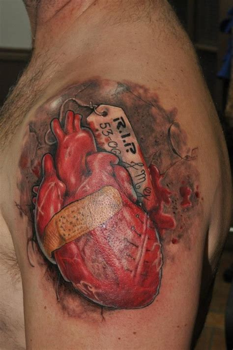 realistic heart tattoo realistic by mikey tattoos that i would