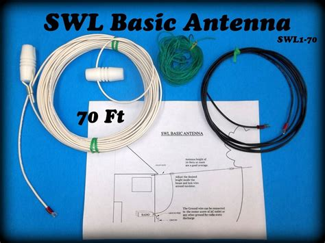 shortwave swl  oc basic longwire antenna kit  ft sw ebay
