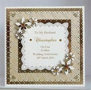 golden 50th wedding anniversary card husband handmade personalised ebay