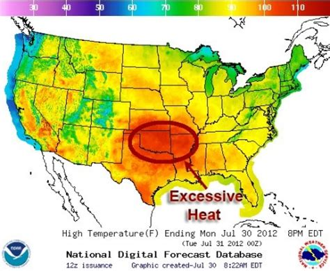 us daily weather map heat continues to plague south central states