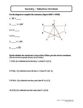 Rigid Transformations Worksheet by Transformations And Rigid Motion Worksheet Bundle By