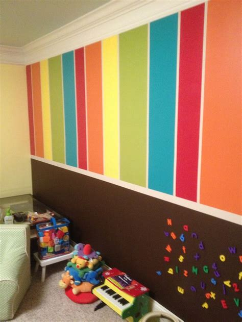 my s playroom created by my talented friend the bottom is chalkboard and