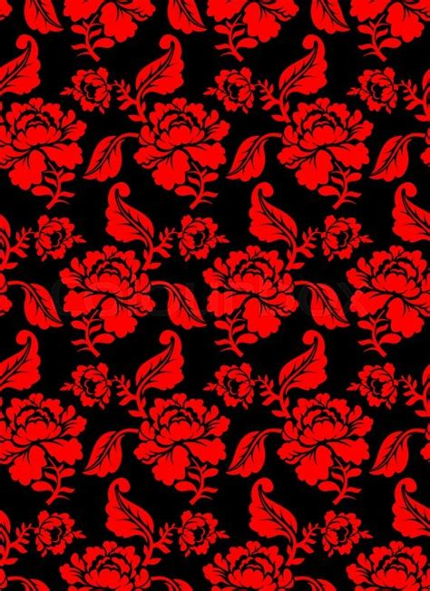 flower pattern red red rose seamless pattern floral texture russian folk