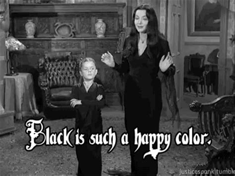 why is black not a color morticia
