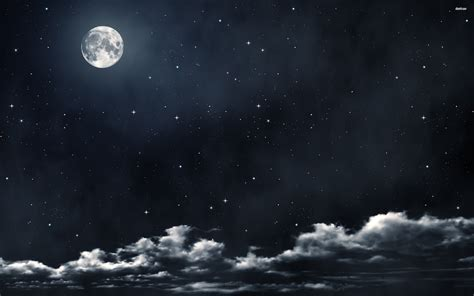 night sky moon wallpapers images  pictures backgrounds