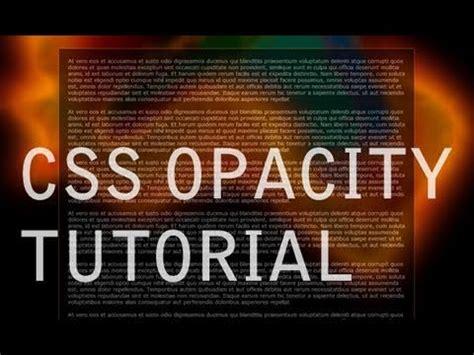 render transparent web site elements css opacity