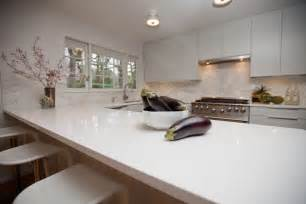 White Kitchen Countertops - white quartz countertops set on wooden kitchen furniture with cozy bar stools 30203 beautiful