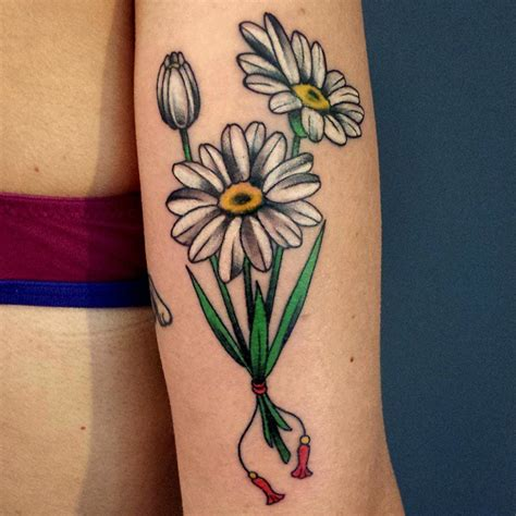 white daisy tattoo 30 flower designs meaning
