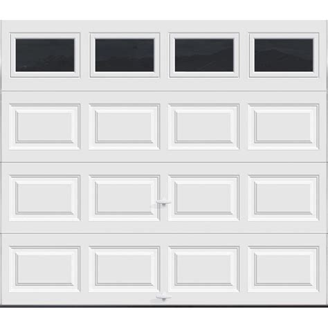 9 Ft Garage Door Clopay Premium Series 8 Ft X 7 Ft 12 9 R Value Intellicore Insulated White Garage Door With