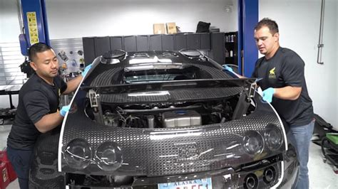 Bugatti Veyron Change by Changing Fluids On Bugatti Veyron Is Not For The Faint Of