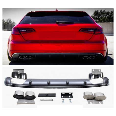 audi a3 s line bumper for audi a3 8v s3 look diffuser sandard bumper s3 look