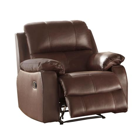 Top Grain Leather Recliner Chair by Homelegance Jedidiah Reclining Chair Top Grain Leather
