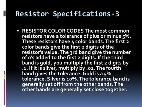 tolerance in resistor definition resistor tolerance definition 28 images definition of resistor tolerance 28 images resistor
