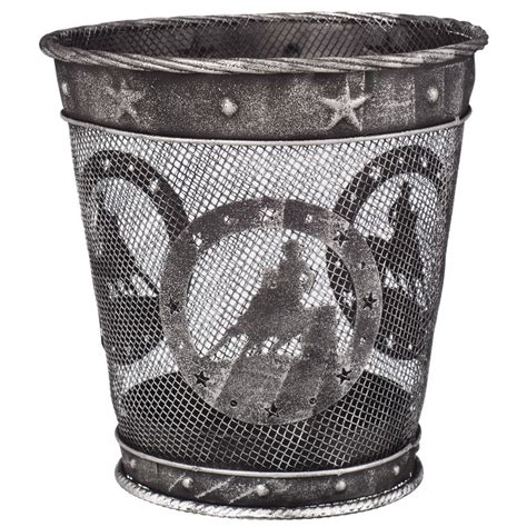 small waste basket small equine motif waste basket