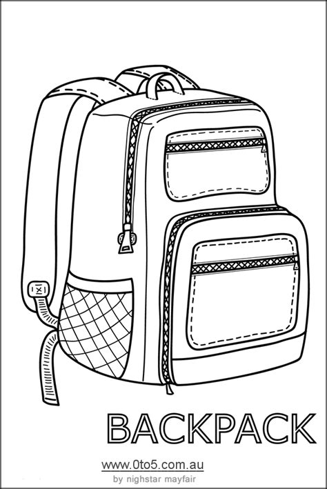 backpack template backpack or rucksack printable template craft ideas