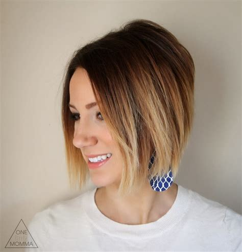 ombre colored hair cut in a line bob 23 hottest ombre bob hairstyles latest ombre hair color