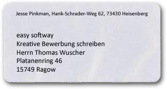 Bewerbung Couvert Anschreiben Wie Beschriftet Einen Brief Richtig Umschlag