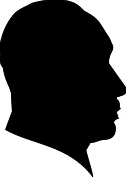 Color Wheel of Dr Martin Luther King Profile Silhouette