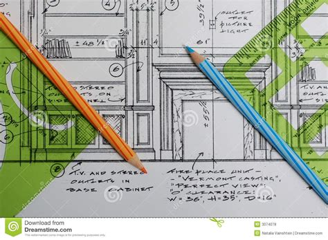 interior design drawings royalty free stock photos image