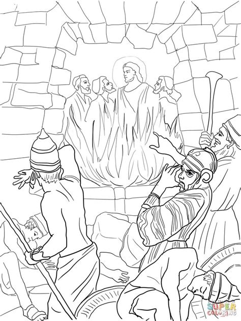 free printable coloring pages of daniel in the lion s den shadrach meshach and abednego in the fiery furnace