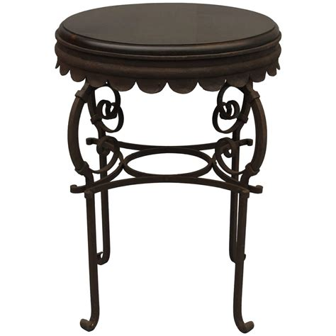 small revival wrought iron table at 1stdibs