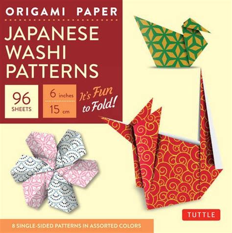 Origami Washi Paper - origami paper japanese washi patterns 6 quot 96 sheets
