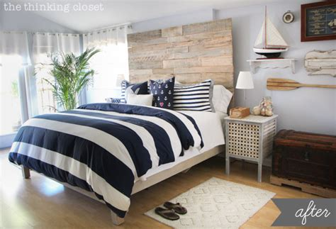 Before Amp After Rustic Nautical Master Bedroom Makeover Master Bedrooms Ideas