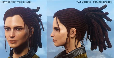 skyrim military hairstyles ponytail hairstyles by azar v2 5a at fallout 4 nexus